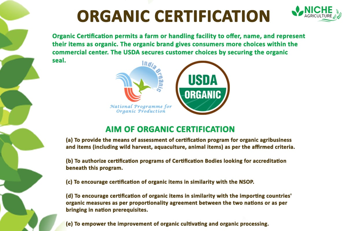 organic certification certified means niche